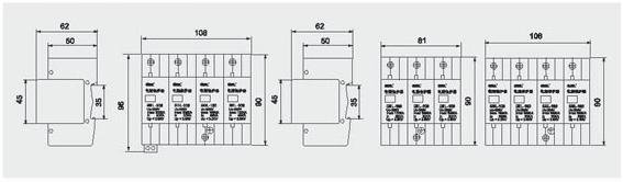 家用配电箱浪涌保护接线图